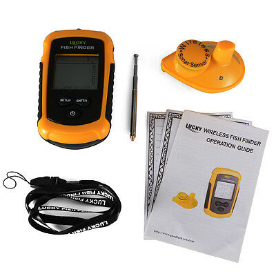 40m Alarm Sonar Depth Ocean Wireless Underwater Fish Fishing LCD Finder OS845