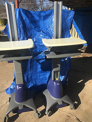 Lot of 2 Ergotron StyleView SV2100 Series   Medical Laptop Cart for Parts
