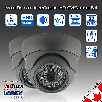 (2x) HD-CVI OUTDOOR SECURITY DOME CAMERA 2MP 48 IR 3.6MM FIXED LENS -Finland