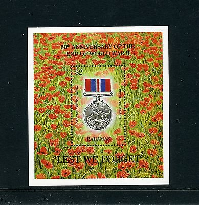 BAHAMAS   MNH   828    End of WWII S/S        DR453