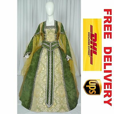 Medieval Renaissance Tudor Wedding Handfasting Larp Gown Dress Costume --- 18E
