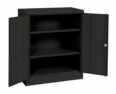 Sandusky Lee RTA7001-09 Black Steel SnapIt Counter Height Cabinet 2 Adjus... NEW