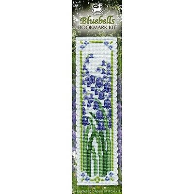 BLUEBELLS Cross Stitch Bookmark Kit from Textile Heritage