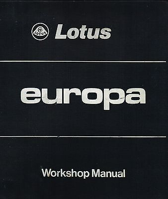 Lotus Europa Dealership Workshop Manual of DVD