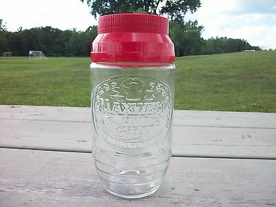 Vintage Maxwell House Coffee Glass Jar With Red Lid