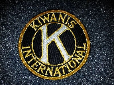 Vintage Kiwanis International Clothing Sew On Patch - New Old Stock - FREE SHIP!