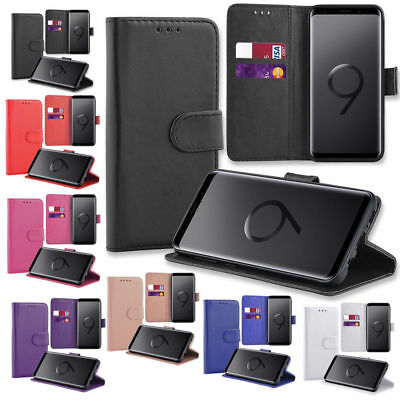 Case For Samsung Galaxy S8 S7 S9 S10 S20 Genuine Real Leather Wallet Flip Cover