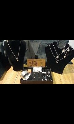 25Pc.☆JEWELRY☆LOT☆SILVER BRACELET+GOLD$100 BANKNOTE+NECKLACES&EARRINGS+RINGS~!