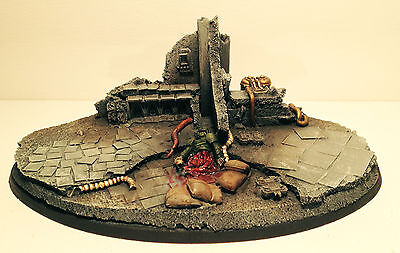 40k Imperial Knight Ruin City Base (dead man)