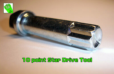 Wheel Lug Nut Bolt 10 Point Star Drive Tool Key