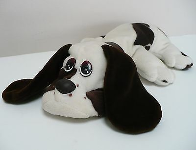 1984 Pound Puppy Yuppies Irwin Toy Vintage White And Brown With Brown Collar