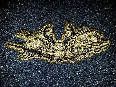 Vintage Hunting Deer Duck Fish Clothing Sew On Patch - New Old Stock FREE SHIP!