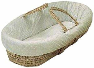 Baby Doll Bedding  Heavenly Soft Doll Moses Basket Set, Ivory...NEW