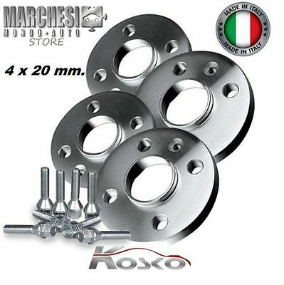 KIT 4 DISTANZIALI RUOTE 20 mm. BMW SERIE 5 TOURING (E61) 2004->2009 CON BULLONI