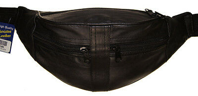 Joggers Leather Waist Fanny Pack Belt Pouch Travel Hip Purse Men Women Black New