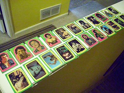 1979 Topps The Incredible Hulk Sticker Set (1-22) No Cards