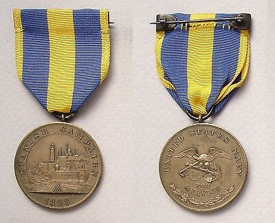 US Navy Spanish Campaign Medal # 4180 - named on rim