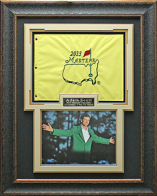 Adam Scott Masters Champion Photo With 2013 Masters Flag Framed