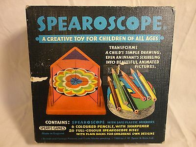 Vintage Toy Spearoscope Kaleidoscope Childrens Drawings Very Rare
