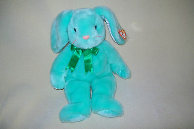 Ty Mwmt Hippity The Green Bunny Beanie Buddy- Super Soft And Adorable!
