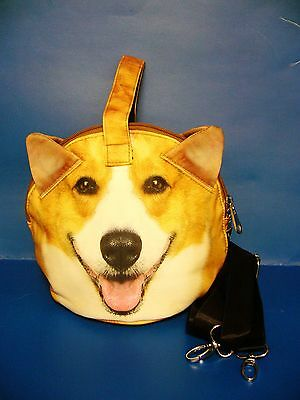 Dog Puppy Pet Corgi Tote Messenger Cross Body Hand Bag Handbag Purse BAG324 NEW