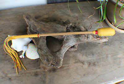 "Drum Beater 16"" length w/ Fringe Native Made William Lattie Cherokee Cert of Aut"