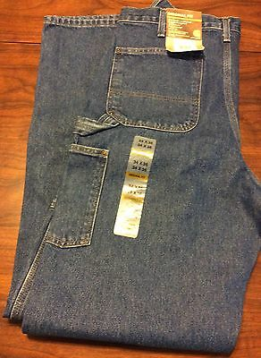 Carhartt Double Front Washed Logger Dungaree Pants 34 X 36 Denim New