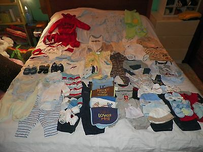 WHOLESALE RESALE 78 PIECE FALL WINTER BABY  0-3 Month Lot