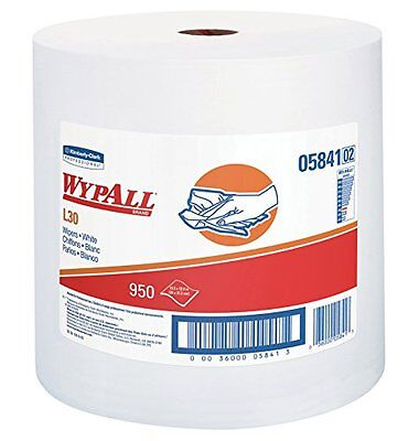 WypAll 05841 L30 Wipers 12 2/5 x 13 3/10 White 1 Roll NEW
