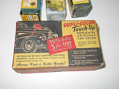 Vintage 1941 Plymouth Purser Green Touch Up Paint Advertising Dupli-Color auto