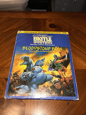 H1 - Bloodstone Pass - Battle System - Dungeons And Dragons - TSR - AD&D