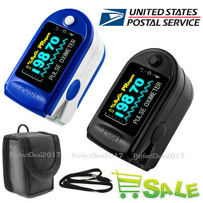 US OLED CMS50D FDA Fingertip Pulse Oximeter Spo2 Monitor Heart Rate Pulse+CASE