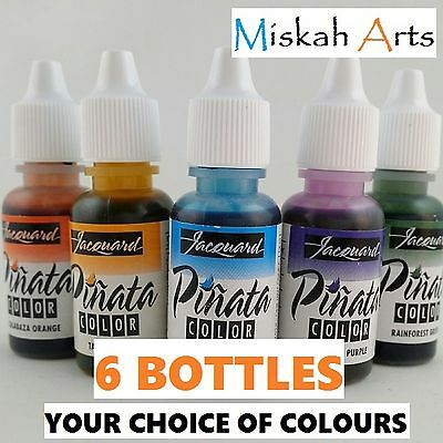 JACQUARD PINATA COLOR - ALCOHOL INK - 14ml x  6 BOTTLES - YOUR CHOICE OF COLOURS