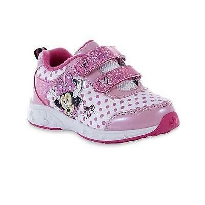 Disney Baby Toddler Girls' Minnie Mouse Pink/White Sneaker Size 6,8 , 9 & 10