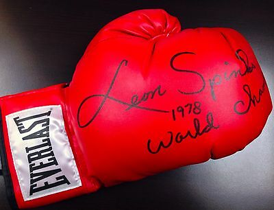 Leon Spinks Autographed Everlast Boxing Glove