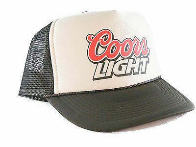 Coors Light beer hat Trucker Hat mesh hat snapback hat tan/brown Free Shipping