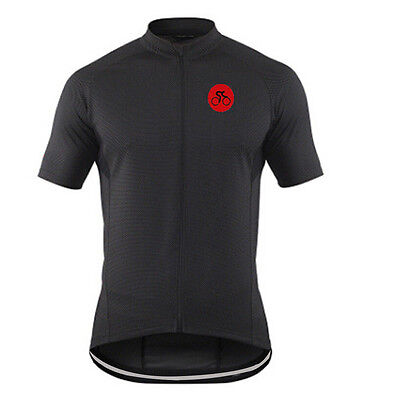Short Sleeve Men's Cycling Jersey Full Zip Cycle Bicycle Bike Shirts Tops S-5XL