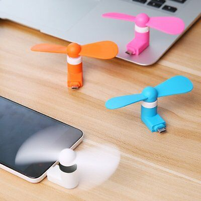 NEW Portable Super Mute Mini Micro USB Cooler Phone Fan For Android Smartphones