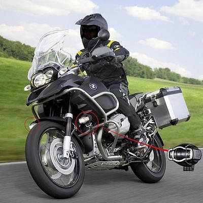 For BMW Motorcycle R1200GS ADV Cree LED Auxiliary Driving Fog Light USB Port