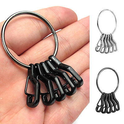 Mini EDC keyring set Alloy Key Buckle Snap Spring Clip Hook Carabiner Keychain