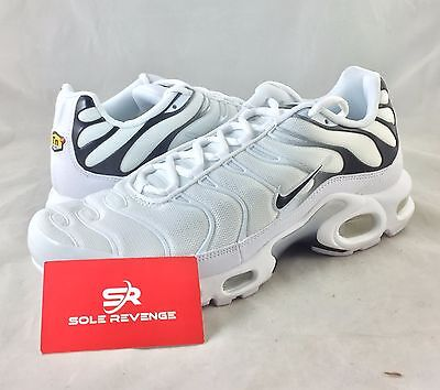 finest selection c0a75 68ab3 NEW NIKE AIR MAX PLUS TN White Black Shoes 852630-100 95 90 c1