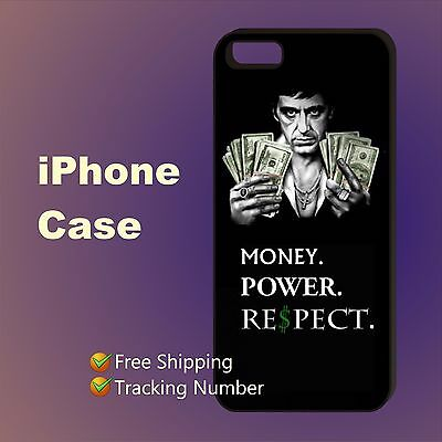 Tony Montana Scarface Money Respect Case Cover iPhone 5s 5c se 6+ 6s+ 7+ 8+ X #I