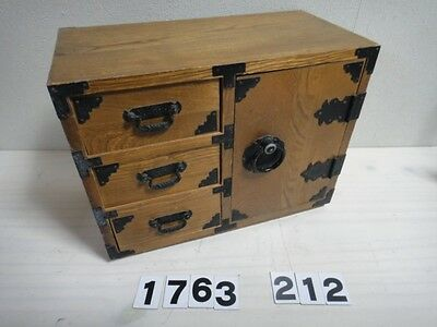 Japanes Small 3 Drawer Box TANSU HIKIDASHI Japan Tasteful Wooden Pattern