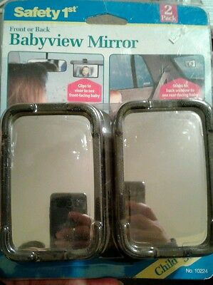 NEW Safety1st Front or Back Babyview Mirror -Peace of mind for you while in car!