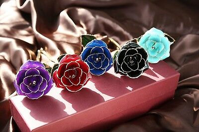 Genuine Rose Preserved Dipped in 24K Gold Rose Gifts for Valentine's Day Wedding