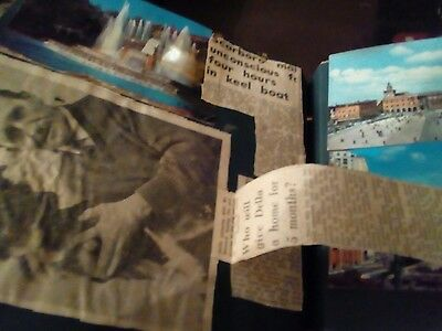 Scarborough 1950s scrapbook postcards photos newspapers clips cards and more