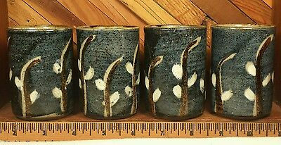 Saki Cup Set Hand-painted Vintage OMC Lot of 4