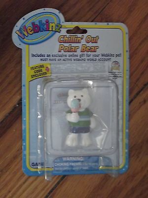 Webkinz  Collectible Chillin Out Polar Bear-  New w/Unused Code