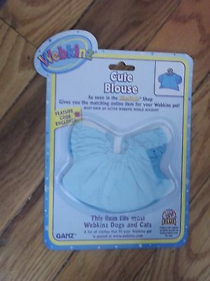 Webkinz  Collectible Cute Blouse -  New w/Unused Code