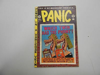 Panic #4 (1954 EC Comics)! VG4.0+! Late Golden age humor work! CHECK IT OUT!